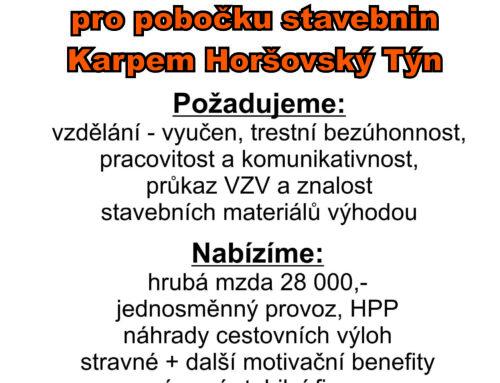 Skladník – Horšovský Týn